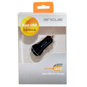 Φορτιστής Αυτοκινήτου Ancus Dual USB 2400 mAh 5210029034749