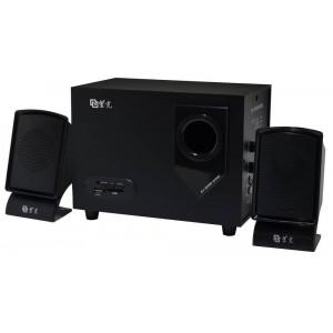 Ηχείο Stereo Multimedia Nakai SE-200U 2.1 5W+10Wx2 RMS Μαύρο με Θύρα USB, SD 15.5x8.9x6cm 5210029038099