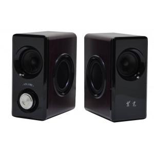 Ηχείο Stereo Nakai SE-608 3Wx2 RMS Καφέ με Τροφοδοσία USB 14x7x11cm 5210029038228