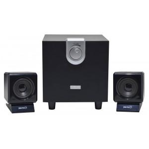 Speaker Stereo Muvgd EM-6204 2.1 4Wx2+8W RMS Black with EU plug 11x8.5x9cm 5210029038235