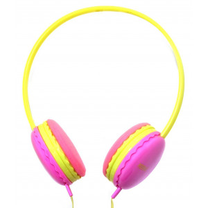 Stereo Headphones Keeka U-1 3.5 mm for Apple-Samsung-HTC-BlackBerry-LG Pink 5210029038440
