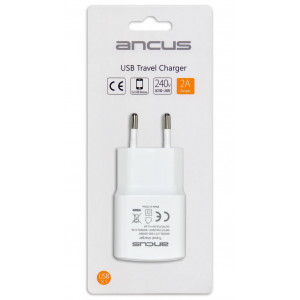 Travel Charger Ancus Usb 2000 mAh Switching 5V White 5210029054716