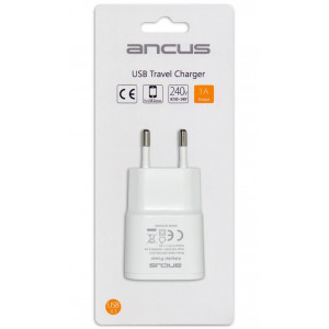 Travel Charger Ancus Usb 1000 mAh Switching 5V White 5210029054723