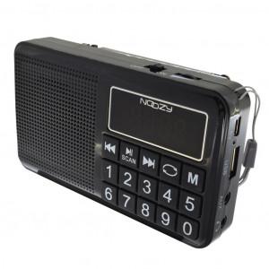 Φορητό Ραδιόφωνο Noozy S24 3W Μαύρο με Υποδοχή USB, Κάρτα Μνήμης, Audio-in και Επαναφορτιζόμενη Μπαταρία 5210029057526