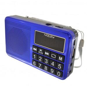Φορητό Ραδιόφωνο Noozy S24 3W Μπλέ με Υποδοχή USB, Κάρτα Μνήμης, Audio-in και Επαναφορτιζόμενη Μπαταρία 5210029057533