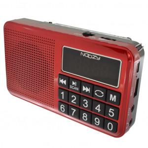 Φορητό Ραδιόφωνο Noozy S24 3W Κόκκινο με Υποδοχή USB, Κάρτα Μνήμης, Audio-in και Επαναφορτιζόμενη Μπαταρία 5210029057540