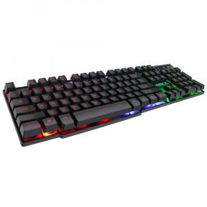 Πληκτρολόγιο Ενσύρματο iMICE AK-600 2020 USB, Φωτιζόμενο με Rainbow LED Affect, 104 Πλήκτρων, Multimedia. Μαύρο 5210029077869
