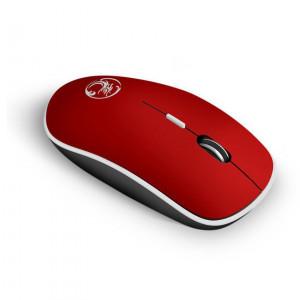 Ασύρματο Ποντίκι iMICE G-1600 1600cpi με 4 Κουμπιά και Αθόρυβη Λειτουργία Κόκκινο 5210029077890