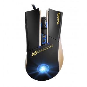 Ενσύρματο Ποντίκι iMICE Apedra A5 Gaming 7D με 7 Πλήκτρα, 3200 DPI και LED Φωτισμό. Μαύρο-Χρυσαφί 5210029077913