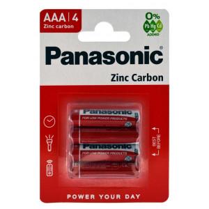 Μπαταρία Zinc Carbon Panasonic R03 size AAA 1.5V Τεμ, 4 5410853032861