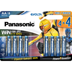 Μπαταρία Αλκαλική Panasonic Evolta LR6EGE/8BW Power Rangers size AA 1.5 V Τεμ. 8 5410853044703