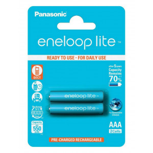 Rechargeable Battery Panasonic eneloop lite BK-4LCCE/2BE 550 mAh size AAA Ni-MH 1.2V Τεμ. 2 5410853052753