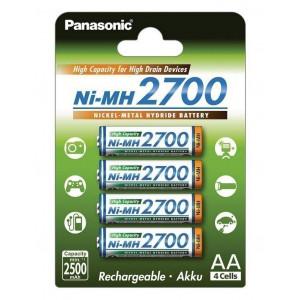 Μπαταρία Επαναφορτιζόμενη Panasonic Ni-MH 2700 BK-3HGAE/4BE 2500 mAh size AA 1.2V Τεμ. 4 5410853052807
