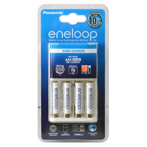 Φορτιστής Μπαταριών Panasonic Eneloop BQ-CC51E για AAA με 4 Ενσωματωμένες Μπαταρίες 5410853056690