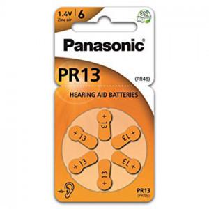 Μπαταρίες Ακουστικών Βαρηκοΐας Panasonic PR13 1.4V Τεμ. 6 5410853057017