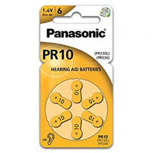 Μπαταρίες Ακουστικών Βαρηκοΐας Panasonic PR10 1.4V Τεμ. 6 5410853057024