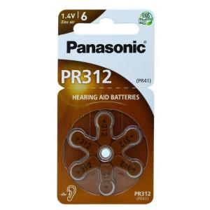 Μπαταρίες Ακουστικών Βαρηκοΐας Panasonic PR312 1.4V Τεμ. 6 5410853057031