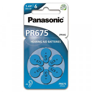 Μπαταρίες Ακουστικών Βαρηκοΐας Panasonic PR675 1.4V Τεμ. 6 5410853057048