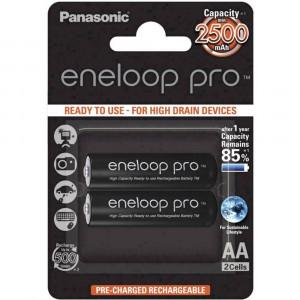 Μπαταρία Επαναφορτιζόμενη Panasonic eneloop pro BK-3HCDE/2BE 2500 mAh size AA Ni-MH 1.2V Τεμ. 2 5410853057178