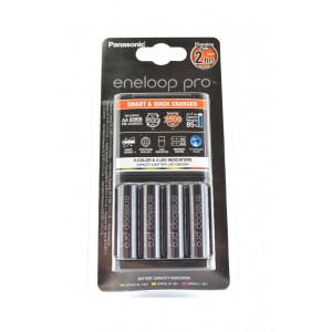 Φορτιστής Μπαταριών Panasonic Eneloop Pro BQ-CC55E Smart & Quick για AA/AAA + 4 Μπαταρίες size AA BK-3HCDE/2BE 2500 mAh Ni-MH 1.2V 5410853057635