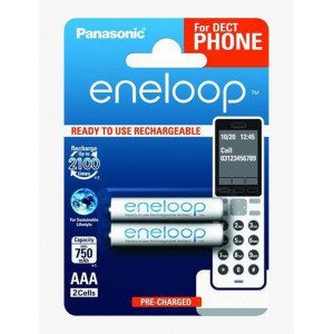 Rechargeable Battery Panasonic Eneloop BK-4MCCE/2DE 750 mAh size AAA Ni-MH 1.2V Τεμ. 2 5410853058786