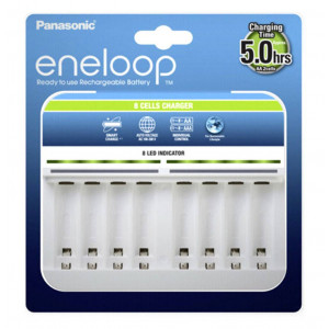 Battery Charger Panasonic Eneloop BQ-CC63E for AA/AAA up to 8 Baterries 5410853059998