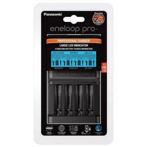 Φορτιστής Μπαταριών Panasonic eneloop pro BQ-CC65 για AA/AAA & USB Output με Οθόνη Led 5410853060017