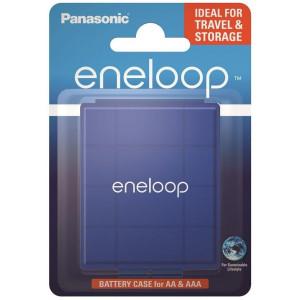 Κουτί Αποθήκευσης Μπαταριών Panasonic eneloop για αποθήκευση έως 4 μπαταριών ΑΑ και ΑΑΑ Μπλε 5410853060154