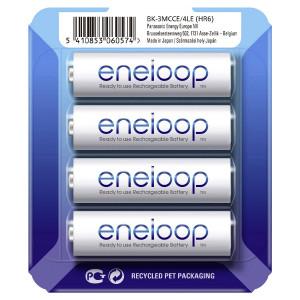 Μπαταρία Επαναφορτιζόμενη Panasonic eneloop BK-3MCCE/4LE 1900 mAh size AA Ni-MH 1.2V Τεμ. 4 5410853060574