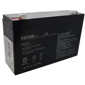 Μπαταρία για UPS Vipow LP12-6 (6V 12 Ah) 1.97 kg 150mm x 50mm x 94mm 5901436715450
