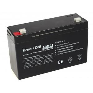 Μπαταρία για UPS Green Cell AGM (6V 12Ah) 1.84kg 151mm x50mm x 94mm 5902701411473