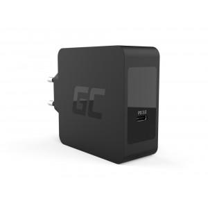 Φορτιστής Green Cell Συμβατό με Apple MacBook Pro 13, Asus ZenBook, HP Spectre, Lenovo ThinkPad 60W 1.5A  Κονέκτορας USB-C Καλώδιο 1.2m 5903317221876