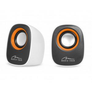 Ηχεία Stereo Media-Tech MT3137W IBO 3.5mm με Τροφοδοσία USB 6W Λευκά 5906453131375