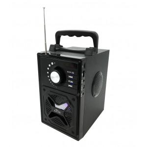 Φορητό Ηχείο Bluetooth Media-Tech Boombox BT Next MT3166 600W, με Βάση για Smartphone και Ασύρματο Τηλεχειριστήριο Μαύρο 5906453131665