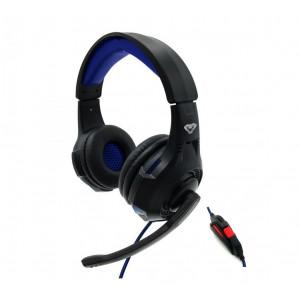 Ακουστικά Stereo Media Tech COBRA PRO THRILL MT3594 με Μικρόφωνο, Ρύθμιση Έντασης Ήχου και Ελαφρύ Φωτισμό Μαύρα 5906453135946