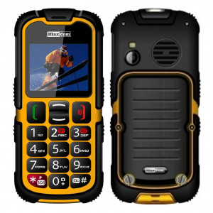 Maxcom MM910 (Dual Sim) Water-dust proof IP67 with Torch, FM Radio (Works without Handsfre) and Camera Orange - Black 5908235973005