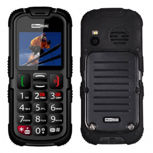 Maxcom MM910 (Dual Sim) Water-dust proof IP67 with Torch, FM Radio (Works without Handsfre) and Camera Black 5908235973074
