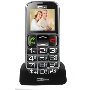 Maxcom MM462BB with Large Buttons, Bluetooth, Radio (Works without Handsfre), Torch, Camera and Emergency Button Black 5908235973258