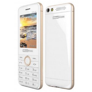 Maxcom MM136 (Dual Sim) with Camera, Torch and FM Radio White - Sampagne 5908235973500