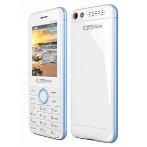 Maxcom MM136 (Dual Sim) with Camera, Torch and FM Radio White - Blue 5908235973517