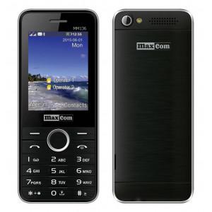 Maxcom MM136 (Dual Sim) with Camera, Torch and FM Radio Black - Silver 5908235973524