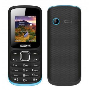 Maxcom MM128 (Dual Sim) with Camera, Bluetooth, Torch and FM Radio Black - Blue 5908235973746