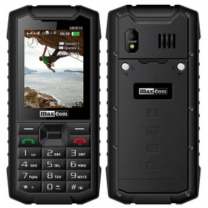 Maxcom Strong MM916 3G (Dual Sim) Water-dust proof IP67 with Bluetooth, Torch, FM Radio and Camera Black 5908235973807