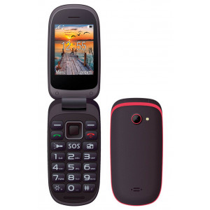 Maxcom MM818 (Dual Sim) with Large Buttons, Radio (Works without Handsfre), and Emergency Button Black-Red 5908235973852