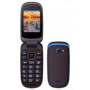 Maxcom MM818 (Dual Sim) with Large Buttons, Radio (Works without Handsfre), and Emergency Button Black-Blue 5908235973869