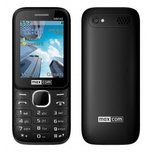 Maxcom MM143 3G (Dual Sim) with Camera, Bluetooth, Torch and FM Radio Black 5908235973883