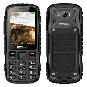 Maxcom MM920 Water-dust proof IP67 with Torch, FM Radio (Works without Handsfre) and Camera Black 5908235973937
