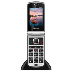 Maxcom MM831 3G with Bluetooth, Torch, Camera, Emergency Button & Hearing Aid Compatible Black 5908235973982