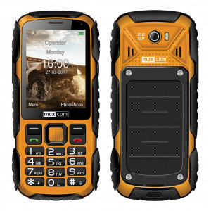 Maxcom MM920 Water-dust proof IP67 with Torch, FM Radio (Works without Handsfre) and Camera Orange - Black 5908235974019