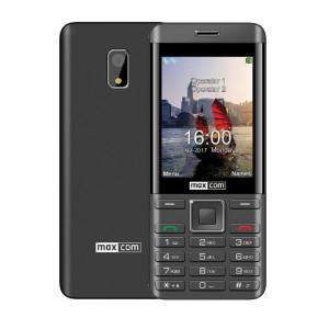 Maxcom MM236 (Dual Sim) 2.8 με Κάμερα, Bluetooth, Φακό και Ραδιόφωνο Μαύρο-Ασημί 5908235974071